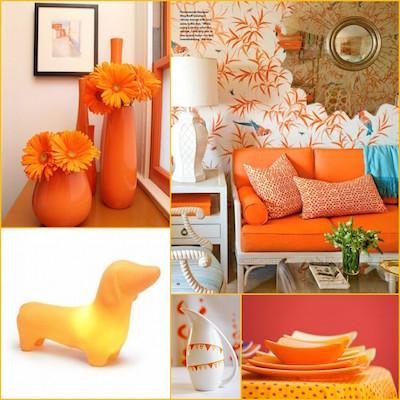 インテリアにオレンジ色をとりいれて運気UP!?どんな効果がある?
