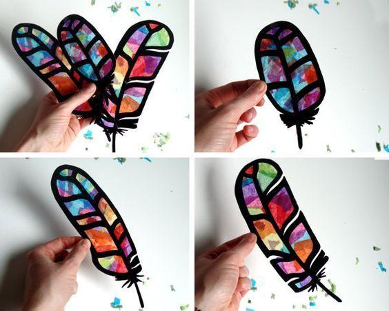 紙でできちゃう簡単工作!子どもと一緒にステンドグラス風飾りを作ってみよう♪