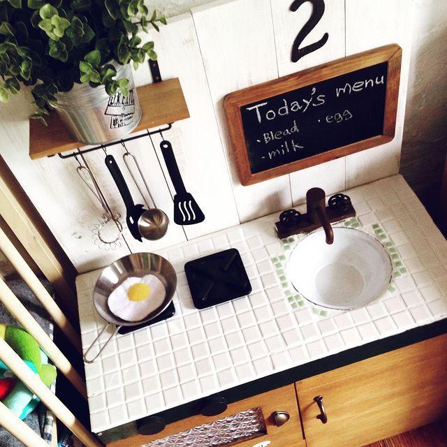 100均DIYで作る!おままごとキッチンの作り方