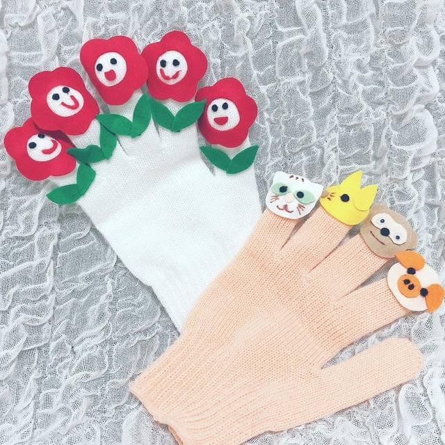 手袋や軍手で作ろう!子どもも喜ぶ動物や指人形の作り方