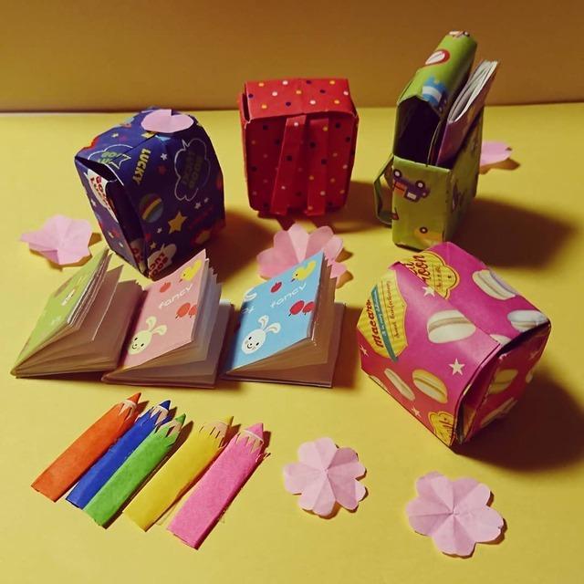 入園・入学のお祝いにも♪ランドセルや桜の折り紙