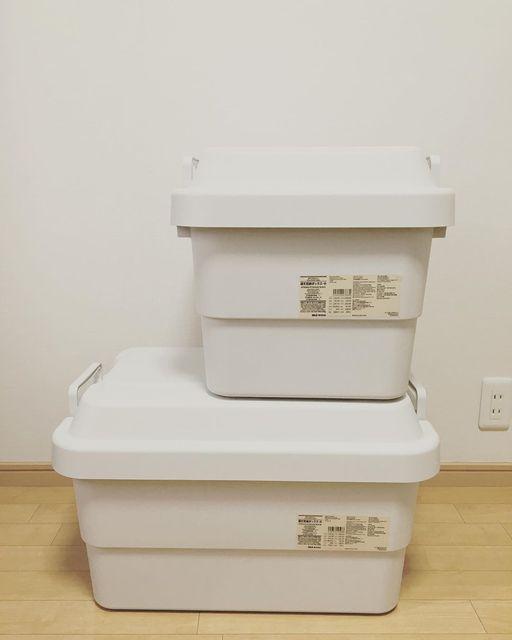 防災グッズをすっきり収納したいなら、無印良品の「頑丈収納ボックス」がおすすめ!