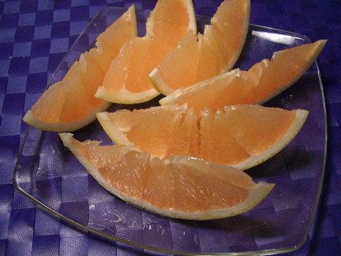オレンジのくし切り