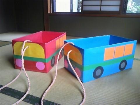 ダンボール バス 作り方 簡単
