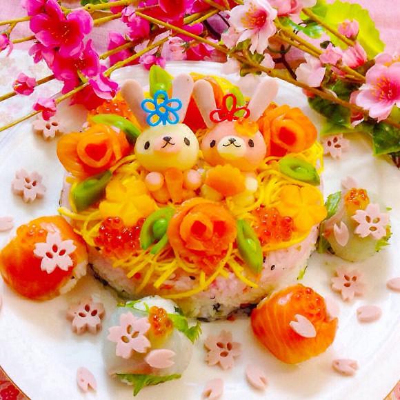ひな祭りの料理といえば♡ひな祭りの日の見た目も華やかな 『ちらし寿司』と『デザート』のレシピです。