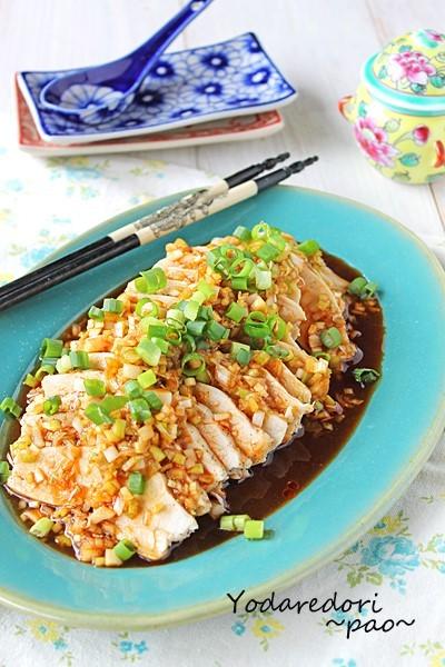 よだれが出るほどおいしい! 話題の中華「よだれ鶏」をレンジ調理で♪