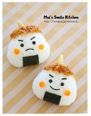 子供たちも笑顔に♡『節分の日のお弁当』です。こわい鬼さんもお弁当箱の中ではかわいいよ♡