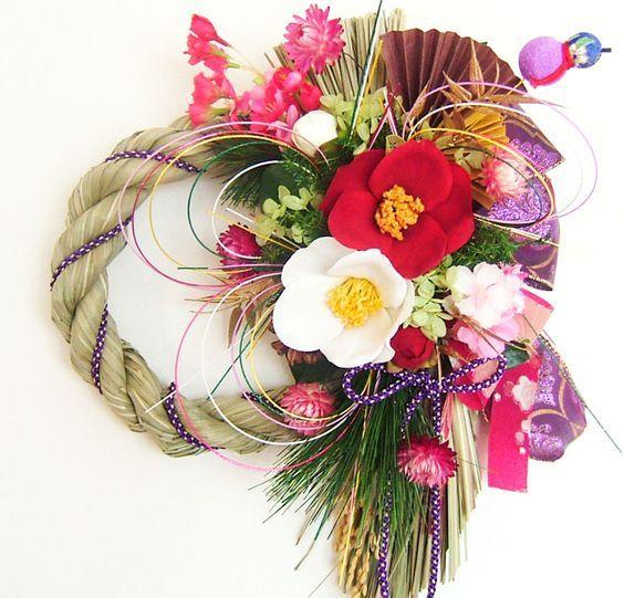 お正月飾りに手作りリースが人気です♪ お正月リースの作り方