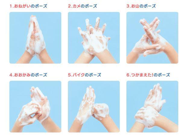 コロナ感染症対策に! 正しい手洗い方法を動画やイラストで楽しくチェック!