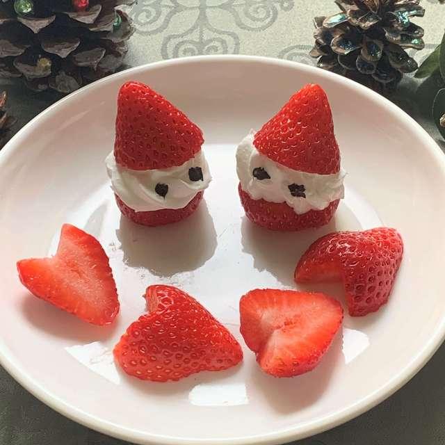 デザートがパッと華やかに♪いちごの飾り切りいろいろ