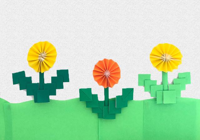 子どもでも名前を知っている花「たんぽぽ」♡折り紙や画用紙で作ってみよう