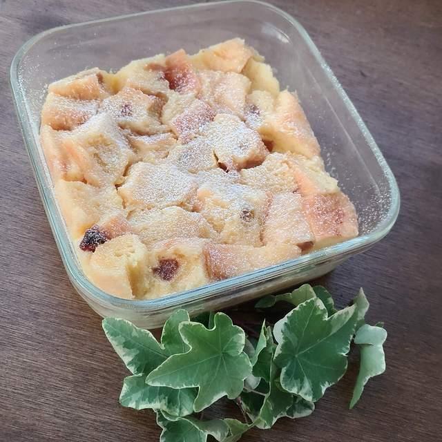 食パンで作る簡単おやつ♪レンジで簡単に作れるパンプディング