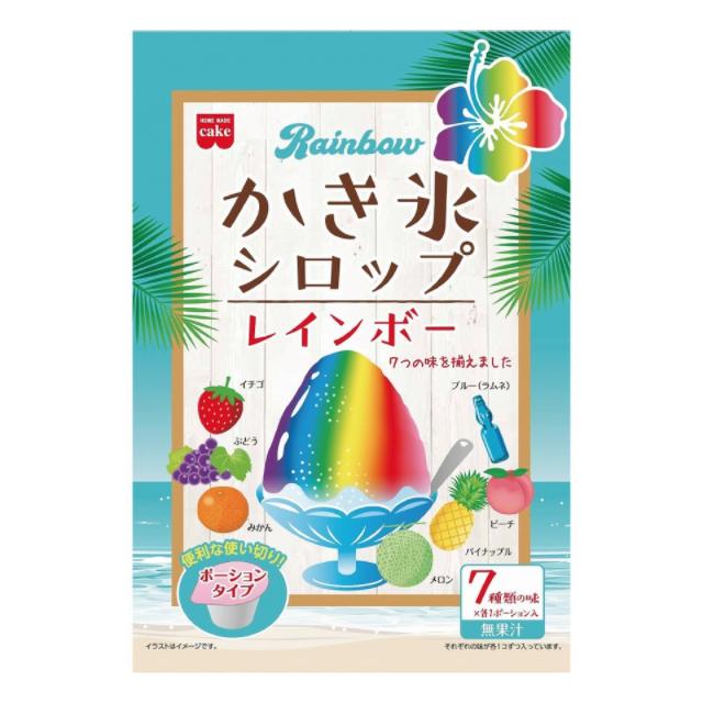 かき氷シロップを使って作る!カラフルで可愛い「レインボーわらび餅」
